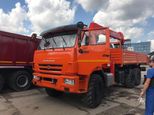 >КАМАЗ бортовой 43118 с КМУ Kanglim KS 1256 G2 TOP